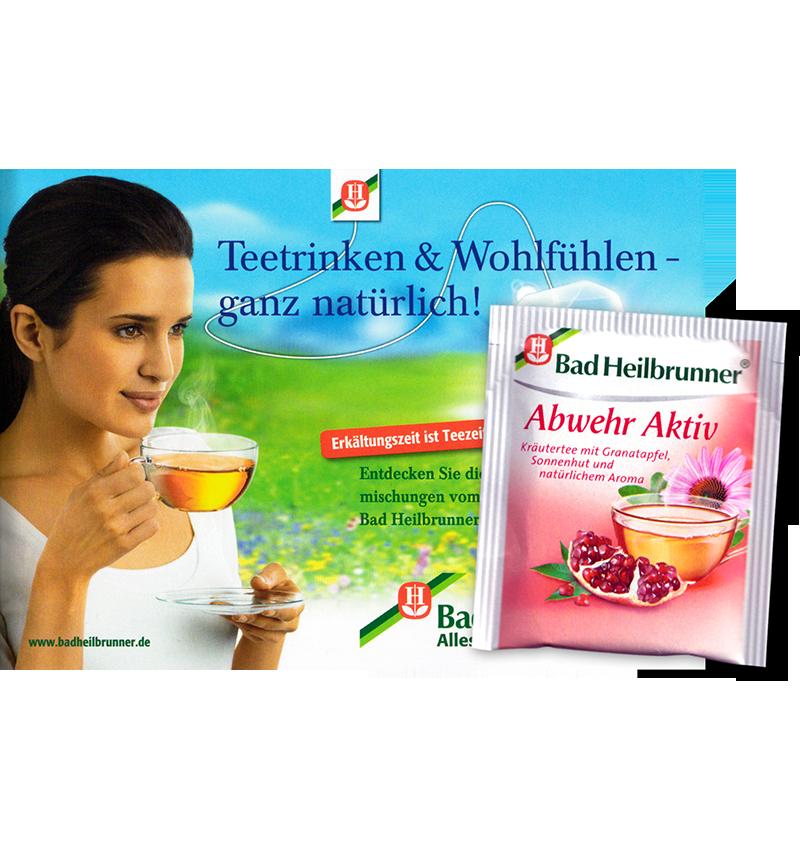 Warenprobe Bad Heilbrunner Abwehr aktiv Tee