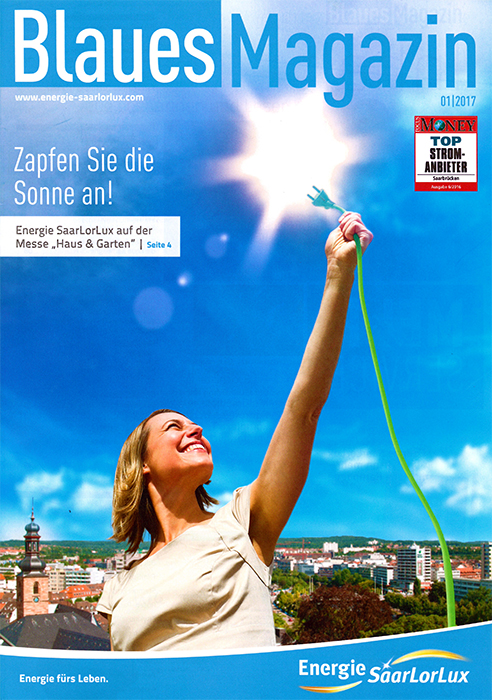 Kundenmagazin energie Saarlorlux