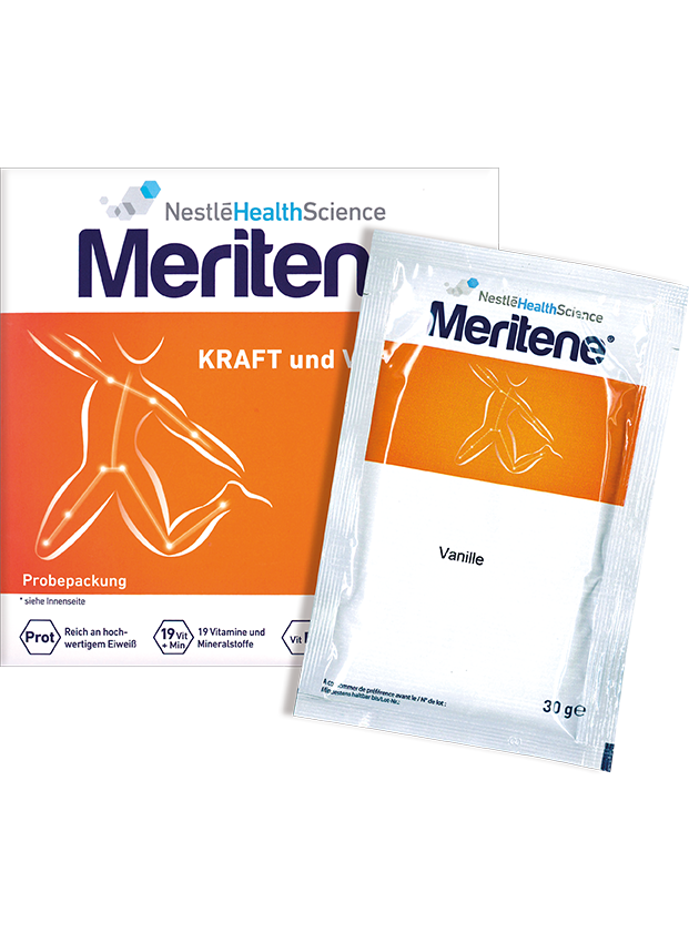 Warenprobe Nestlé Health Science Meritene