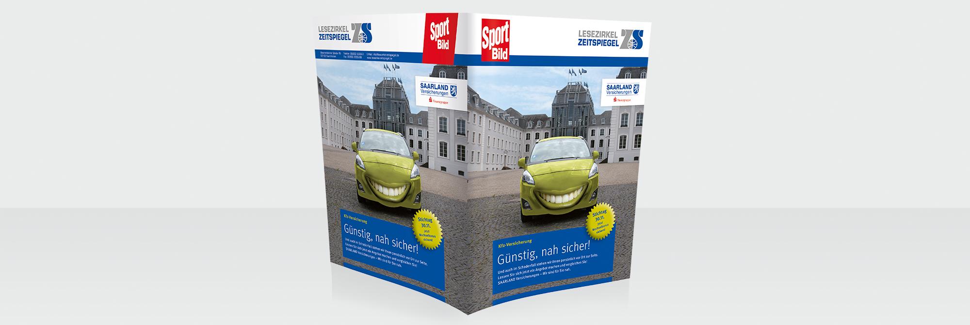 Lesezirkelumschlag der Saarland Versicherungen