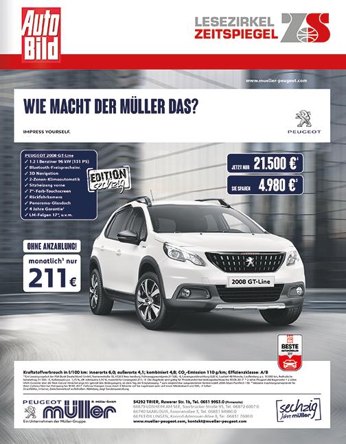 Top-Cover Peugeot Müller - Auto Bild