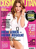 Werben mit der Zeitschrift Cosmopolitan