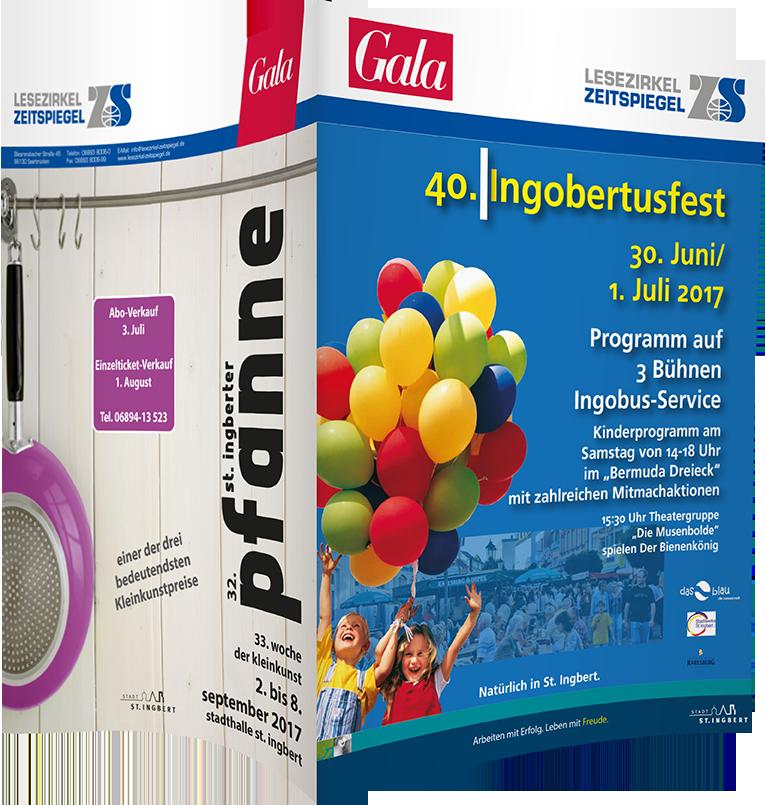 Top-Cover Stadtfest St. Ingbert - Zeitschrift Gala